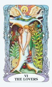 Lovers by Moon Garden Tarot