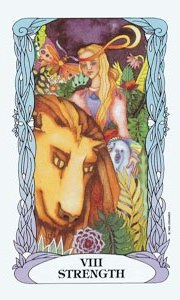 Strength by Moon Garden Tarot